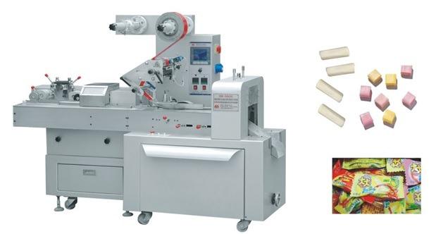 Máy đóng gói kẹo mềm cắt và gói tự động