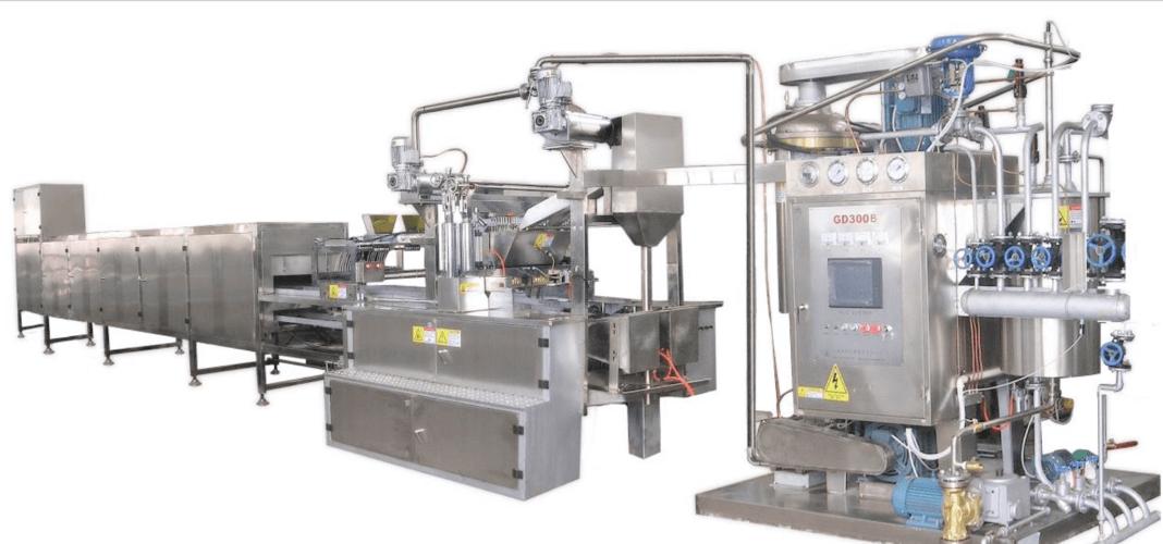 Dây chuyền sản xuất chiết rót kẹo cứng liên tục chân không loại GD-150/300/450/600