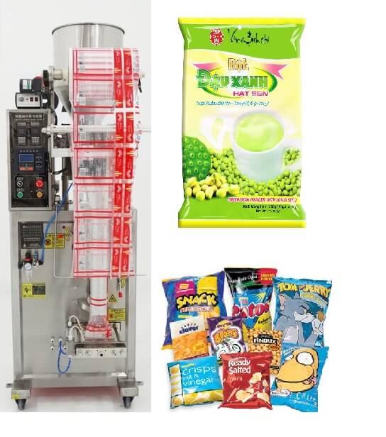 Máy đóng gói đứng đường hàn bụng đóng snack, hạt,… dạng cốc