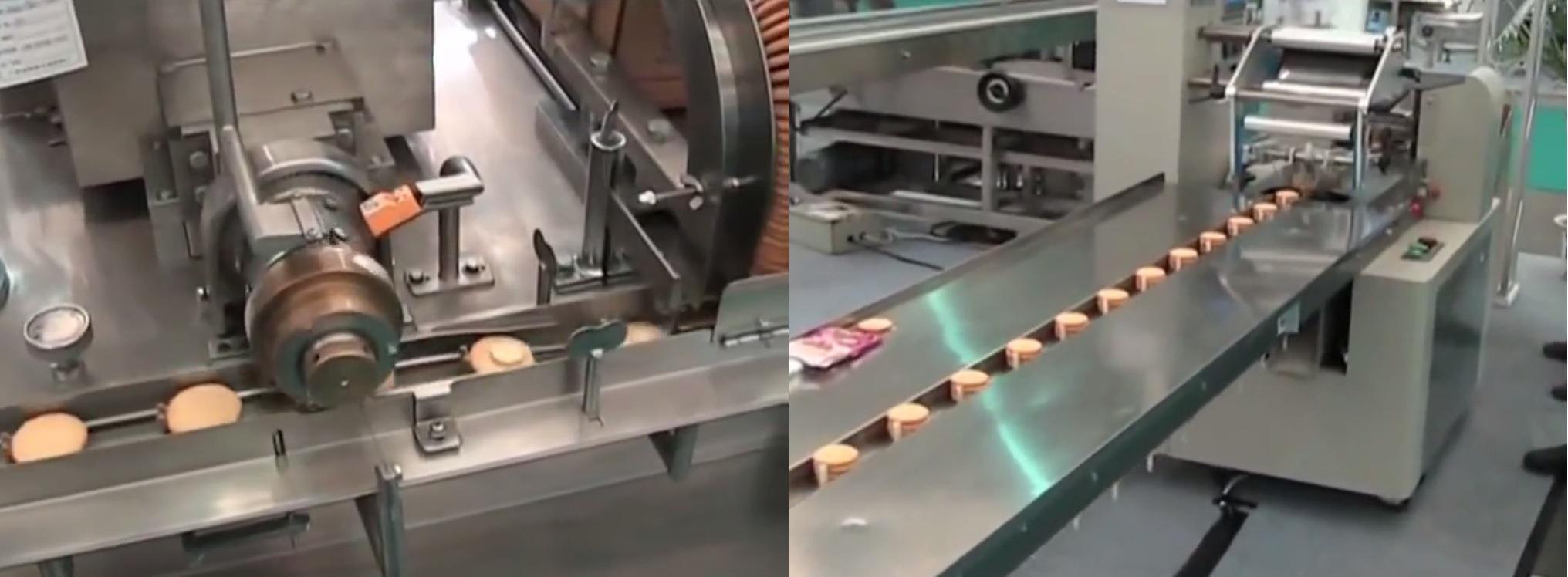 Máy kẹp kem kết nối máy đóng gói
